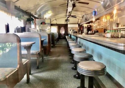 Interior view of Diner